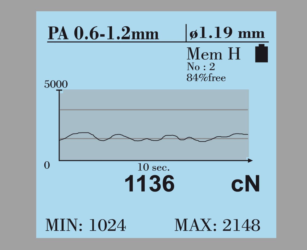 Tension Meter DTX, hand-held electronic device - Hans Schmidt